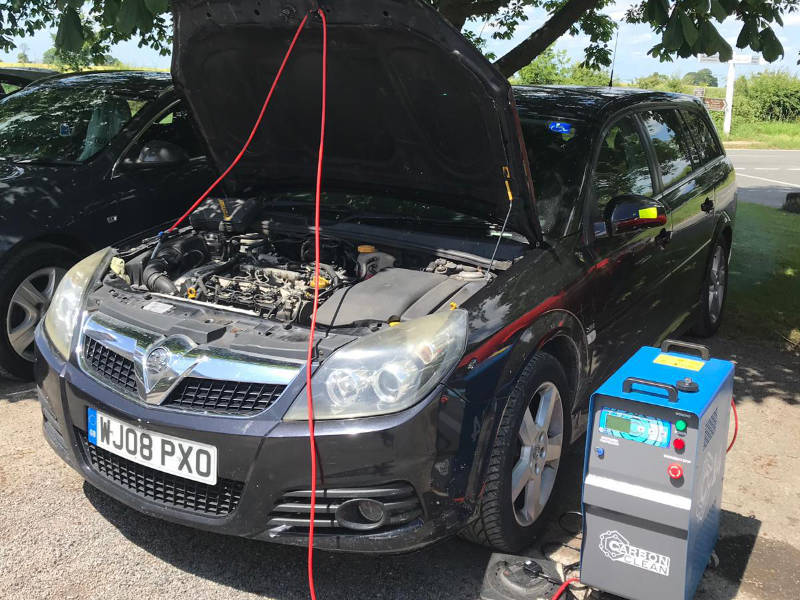 carbon cleaning a car